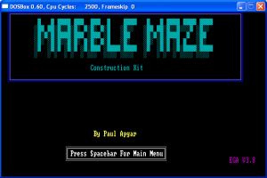 Title screen was fairly utilitarian, although it had my name in my favorite color!